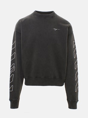 OFF WHITE c/o VIRGIL ABLOH - GREY ABSTRACT SWEATSHIRT