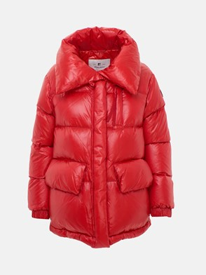 WOOLRICH - RED PUFFY ALQUIPPA DOWN JACKET