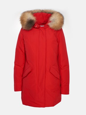 WOOLRICH - RED ARTIC RACOON PARKA