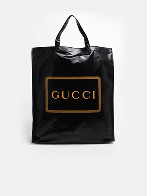 GUCCI - BLACK TOTE VYNIL BAG