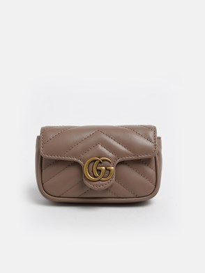 GUCCI - POWDER PINK GG MARMONT SMALL CROSSBODY BAG