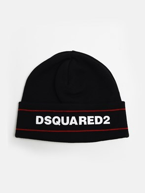 DSQUARED2 - BLACK BEANIE