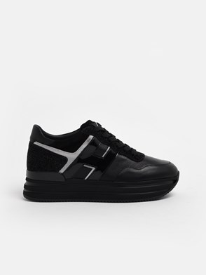 HOGAN - BLACK H483 SNEAKERS