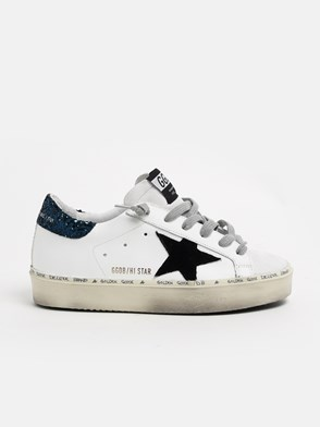 GOLDEN GOOSE DELUXE BRAND - BLACK AND WHITE HI STAR SNEAKERS