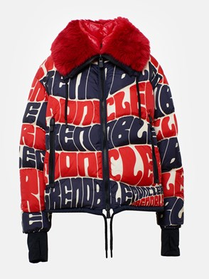 MONCLER GRENOBLE - RED AND BLUE PLARET DOWN JACKET