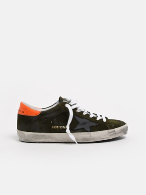 GOLDEN GOOSE DELUXE BRAND - GREEN SUPERSTAR SNEAKERS