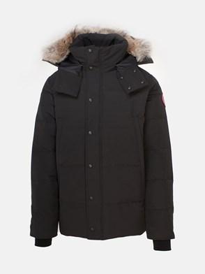 CANADA GOOSE - BLACK WYNDHAM HEAVY COAT