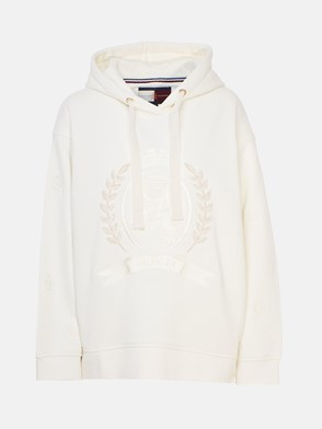 HILFIGER COLLECTION - WHITE CREST SWEATSHIRT