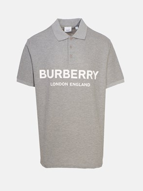 BURBERRY - POLO LUCKLAND GRIGIA