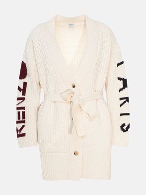 KENZO - CREAM-COLORED CARDIGAN