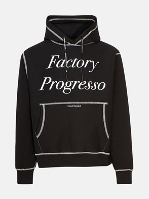 UNITED STANDARD - FELPA PROGRESS HOODIE NERA