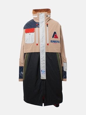 ALPHASTYLE - PARKA EGRET MONSTER NERO/BEIGE