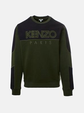KENZO - FELPA LOGO VERDE