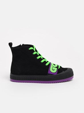 GCDS - BLACK AND GREEN SNEAKERS