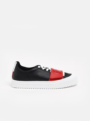 GCDS - BLACK AND RED SNEAKERS