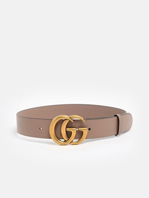 GUCCI - POWDER PINK GG MARMONT BELT