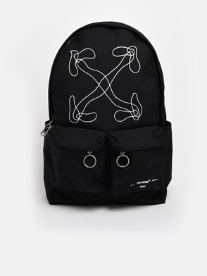 OFF WHITE c/o VIRGIL ABLOH - BLACK ABSTRACT BACKPACK