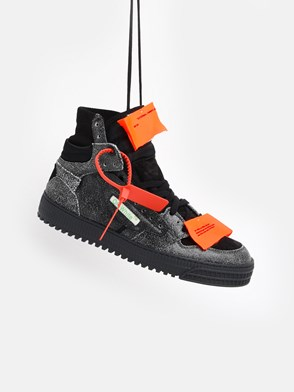 OFF WHITE c/o VIRGIL ABLOH - SNEAKER OFF COURT NERA E GRIGIA