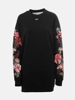 OFF WHITE c/o VIRGIL ABLOH - BLACK CARRYOVER FLOWERS DRESS