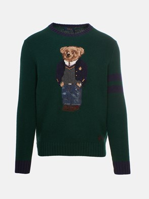 POLO RALPH LAUREN - GREEN TEDDY BEAR SWEATER