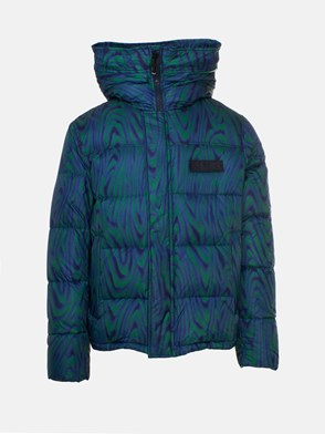 KENZO - GIACCA HOODED DOWN JACKET MULTICOLORE