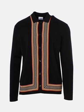 BURBERRY - BLACK LACHLAN SWEATER