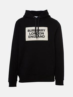 BURBERRY - BLACK FARLEY SWEATSHIRT