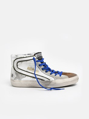 GOLDEN GOOSE DELUXE BRAND - WHITE SLIDE SNEAKERS