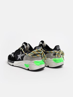 GOLDEN GOOSE DELUXE BRAND - BLACK RUNNING SNEAKERS