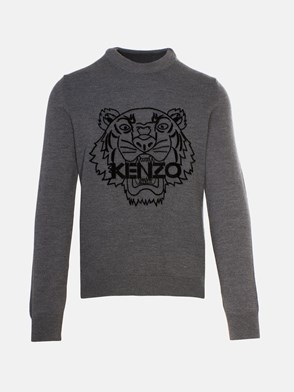 KENZO - GREY TIGER SWEATER