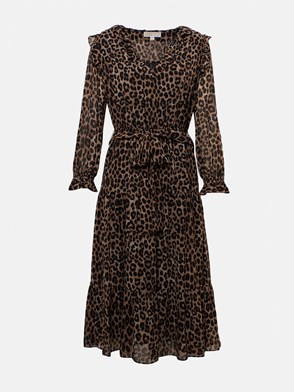 MICHAEL MICHAEL KORS - BROWN DRESS