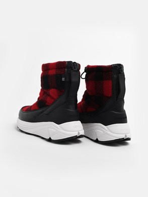 WOOLRICH - RED AND BLACK ARTIC BOOTS