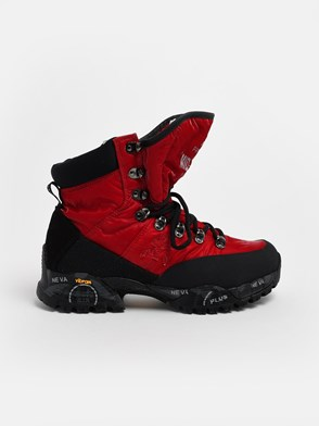 PREMIATA - BLACK AND RED MIDTRECD ANKLE BOOTS