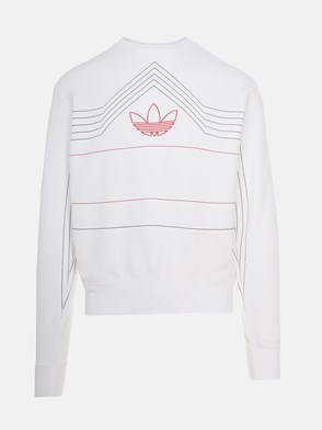 ADIDAS ORIGINALS - WHITE RIVALRY CREW SWEATSHIRT
