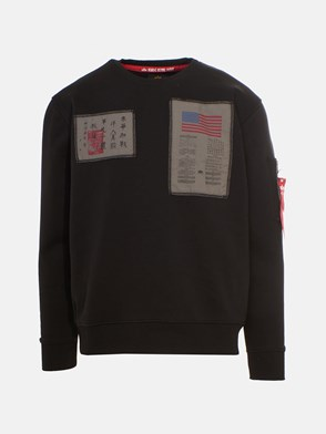 ALPHA INDUSTRIES - BLACK BLOOD CHIT SWEATSHIRT