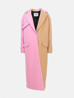 MSGM - BEIGE AND PINK COAT