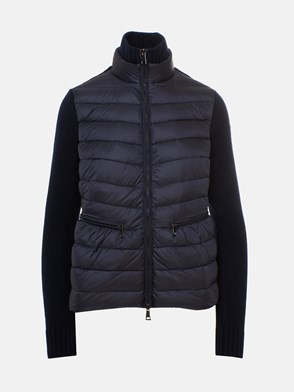 MONCLER - BLUE TRICOT CARD DOWN JACKET