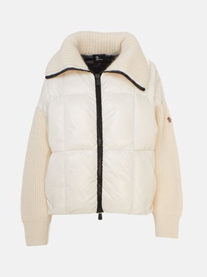 MONCLER GRENOBLE - CREAM TRICOT CARD SWEATER