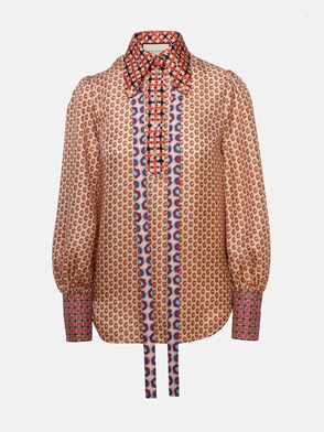 GUCCI - BLACK AND ORANGE SHIRT