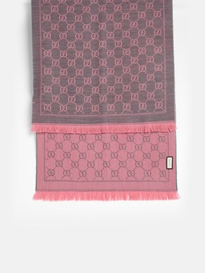 GUCCI - GREY AND PINK SCARF