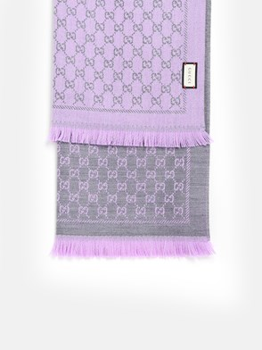 GUCCI - GREY AND LILAC GG SCARF