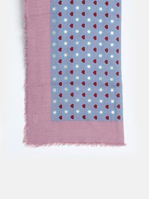 GUCCI - PINK AND LIGHT BLUE DIMMHERT FOULARD