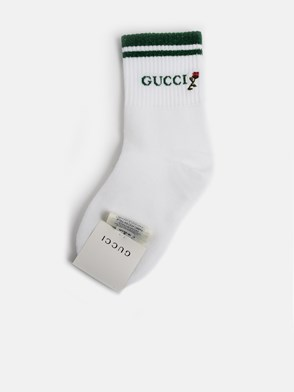 GUCCI - WHITE SHINY PONG SOCKS