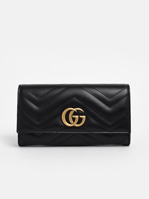 GUCCI - BLACK CONTINENTAL GG MARMONT WALLET