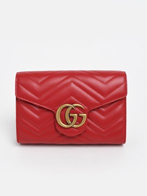 GUCCI - RED GG MARMONT BAG