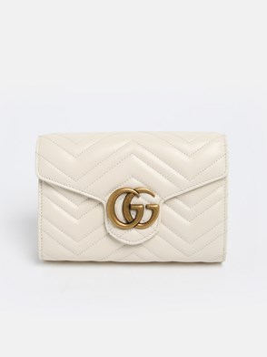 GUCCI - WHITE GG MARMONT BAG