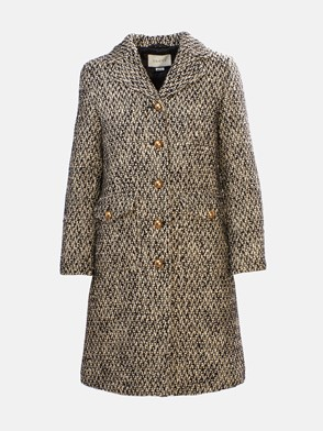 GUCCI - BLACK AND IVORY MARTINGALE COAT