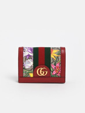 GUCCI - RED GG SUPREME WALLET