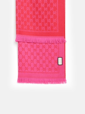 GUCCI - RED GG SCARF