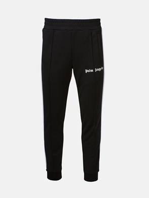PALM ANGELS - BLACK PANTS WITH WHITE BANDS